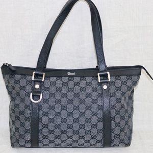 GUCCI black ABBEY shoulder tote handbag Italy